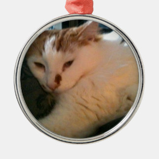 Lazy, Relaxed Cat Christmas Ornament