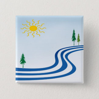 Lazy River 15 Cm Square Badge