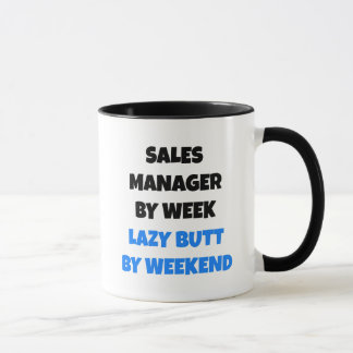 Lazy Sales Manager Joke Mug