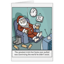 Lazy Santa Greeting Card