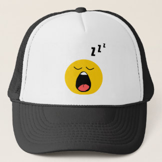 Lazy sleeping smiley trucker hat