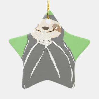 Lazy Sloth Christmas Ornament