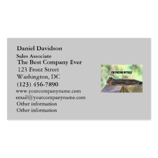 Lazy Squirrel Photo Business Card Templates