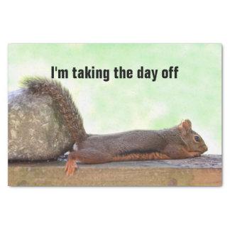 Lazy Squirrel Tissue Paper