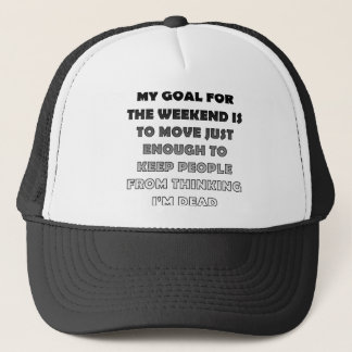 Lazy Weekend Funny Ball Cap Trucker Hat