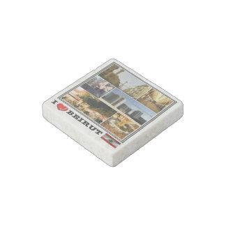 LB Lebanon - Beirut - I Love Mosaic - Stone Magnet