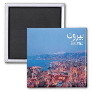 LB - Lebanon - Beirut - Panorama Square Magnet