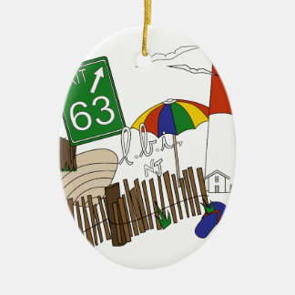 LBI Love Primary Color Collage Christmas Ornament