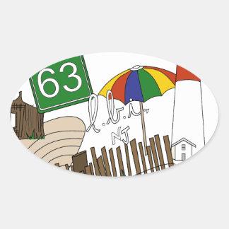 LBI Love Primary Color Collage Oval Sticker