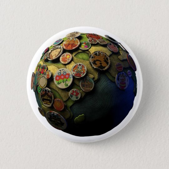 LBP Earth 6 Cm Round Badge