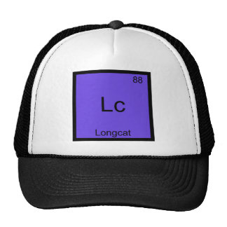 Lc - Longcat Funny Chemistry Symbol Meme T-Shirt Cap