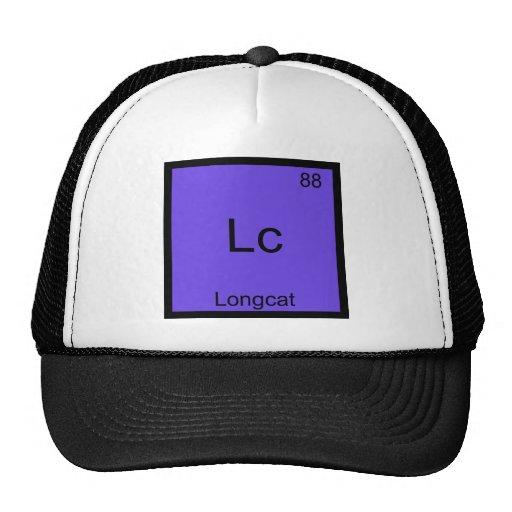 Lc - Longcat Funny Chemistry Symbol Meme T-Shirt Mesh Hats