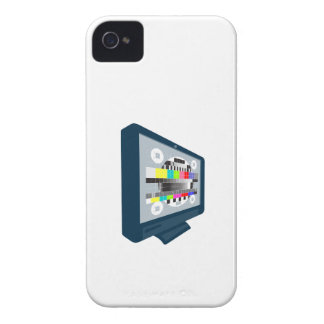 LCD Plasma TV Television Test Pattern iPhone 4 Case-Mate Case