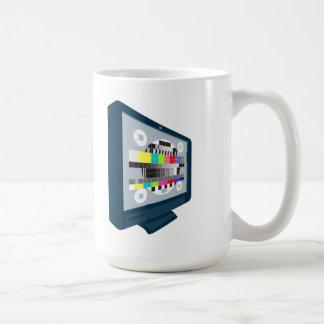 LCD Plasma TV Television Test Pattern Coffee Mug