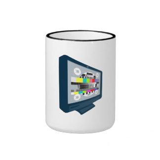 LCD Plasma TV Television Test Pattern Mugs