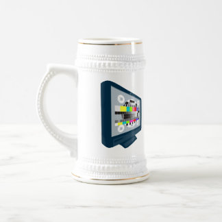 LCD Plasma TV Television Test Pattern Coffee Mugs