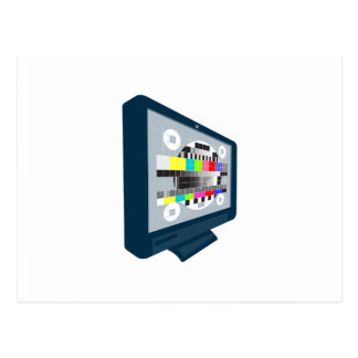 LCD Plasma TV Television Test Pattern Post Card