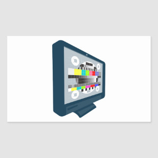 LCD Plasma TV Television Test Pattern Stickers