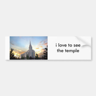 LDS mormon Oquirrh Mountain Utah temple Bumper Sticker