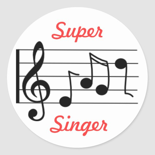 LDS Primary Music Sticker - Super Singer