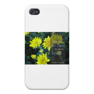 LDS Quote: When Life Gets Too Hard to Stand, Kneel iPhone 4 Case