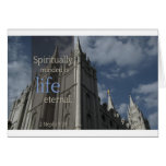 "LDS Quotes ""Spiritually Minded is Life Eternal"" Greeting Card"