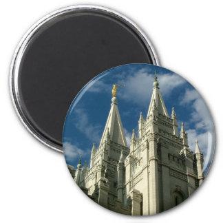 LDS Temple 6 Cm Round Magnet