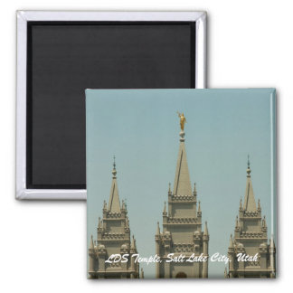LDS Temple, Salt Lake City, Utah Square Magnet