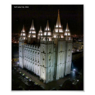 LDS Temple, Salt Lake City, Utah Posters