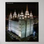 LDS Temple, Salt Lake City, Utah Posters