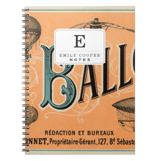 Le Ballon Spiral Notebook
