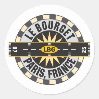 Le Bourget Paris, France LBG Airport Classic Round Sticker