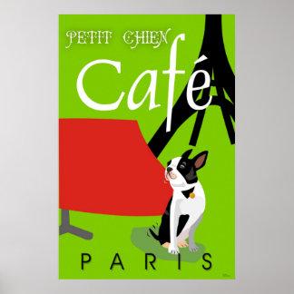 Le Cafe de Petit Chien, Paris (vert) Poster