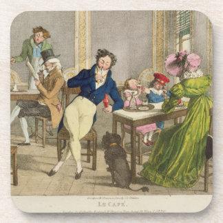 Le Cafe, pub. by Rodwell and Martin, 1820 (colour Coasters