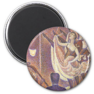 Le Chahut, The Can-Can Dance by Georges Seurat 6 Cm Round Magnet