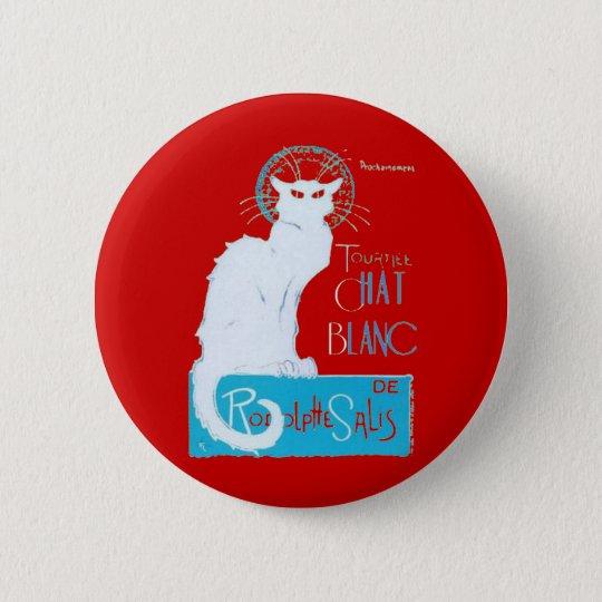 Le Chat Blanc Parody Of Le Chat Noir 6 Cm Round Badge