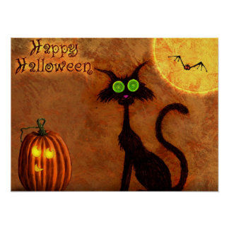 Le chat d Halloween - Poster