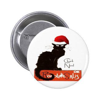 Le Chat Noel 6 Cm Round Badge