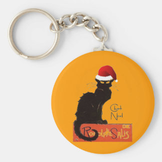 Le Chat Noel Basic Round Button Key Ring
