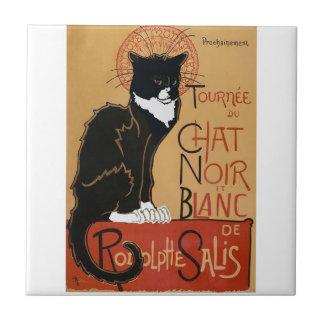 Le Chat Noir et Blanc Tile