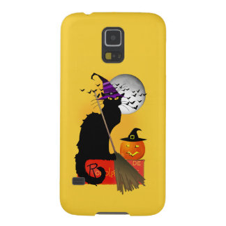 Le Chat Noir - Halloween Witch Cat Galaxy S5 Cover