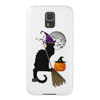 Le Chat Noir - Halloween Witch Cat Galaxy S5 Covers
