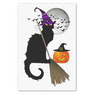 Le Chat Noir - Halloween Witch Cat Tissue Paper