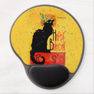 Le Chat Noir - Happy Birthday Greetings Gel Mouse Pad