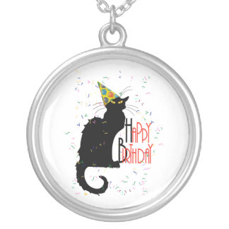 Le Chat Noir - HAPPY BIRTHDAY! Silver Plated Necklace