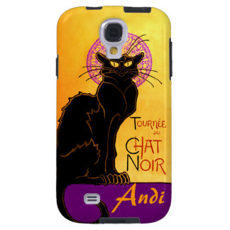 Le Chat Noir in Purple Personalized Galaxy S4 Case