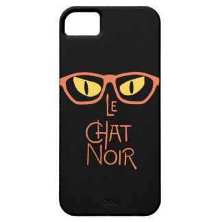 Le Chat Noir in the Dark with Eyeglasses iPhone 5 Case