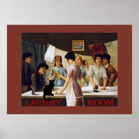 Le Chat Noir Laundry Room Poster
