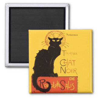 Le Chat Noir Square Magnet