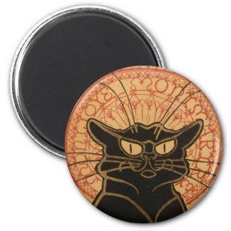 Le Chat Noir Original 6 Cm Round Magnet